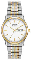 Citizen Eco-Drive Men's Gold and Silver Tone Calendar 36mm Watch BM8454-93A
