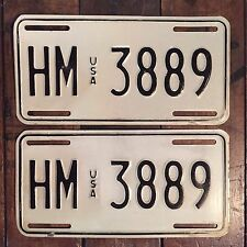 Matched Pair USA Military Overseas License Plate Germany 1982 To 1990 HM 3889