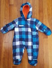 Baby Carters's Hooted Plaid Snowsuit Outwear Size 3-6m