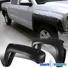 2014-2015 Silverado 1500 2500HD 3500HD 5.8' Short Bed Pocket Black Fender Flares