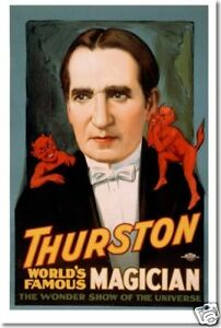 Thurston World's Famous Magician - Vintage Art Reproduction POSTER
