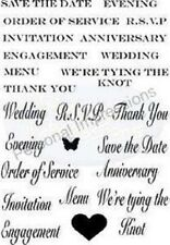 Personal Impressions ART STAMPS A6 Clear Stamps WEDDING SENTIMENTS PICSA6270
