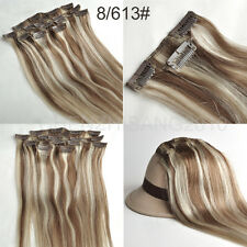 """High Quality Clip In Human Extensions Remy Hair Full Head 14""""-30"""" 7pcs/set"""