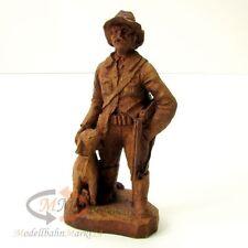 SIC Figur Jäger mit Hund Géradmer Holz handbemalt Höhe ca. 165 mm