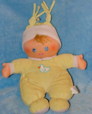 Well Made Toys Plush Hug N Snuggle Yellow Baby Doll Duck Rattle Stuffed Toy 12""