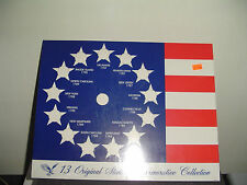 13 Original States Colonies America Collectors Coin Quarters Display Flag USA