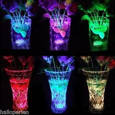 Multicolor 10 LED Candle Submersible Remote Flashing Lamp Floral Vase Light