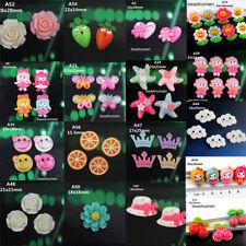 Lot Mix Colors Resin Flower flatback Appliques For DIY phone/craft