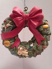 Vintage Wreath Of Memories 1987 Hallmark Keepsake Collector's Club Ornament