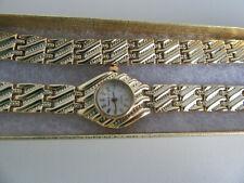 "Vintage Watch & Bracelet set""7&half inch wrist""Quartz""Pierre Nicol""Face 1 inch A"