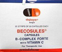 200 Caps BECOSULES CAPSULES BICASULE Vitamin B-complex with Vitamin C