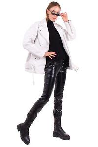 RRP €1475 ACNE STUDIOS Leather Biker Jacket Size 38 / M Zipped Cuffs Belt Detail