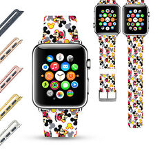 Mickey Mouse Apple Watch Band 38 40 42 44 mm Series 5 1 2 3 4 Wrist Strap -736