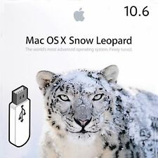 OSX SNOW LEOPARD 10.6 MAC MACBOOK PRO AIR IMAC INSTALLER USB BOOTABLE REPAIR FIX