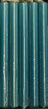 STABKERZEN von WIEDEMANN 25 x 2,3 cm 10 Stück. Kerzen petrol AZURBLAU 161106.032