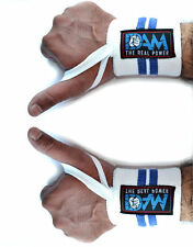 DAM 12 Inch WRIST WRAPS HEAVY DUTY POWERLIFTING BODYBUILDING GYM SUPPORT STRAPS