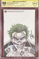 Joker: Year of the Villain #1 Kincaid Sketch Cover - 9.8 - Signed Ryan Kincaid