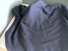 """Vintage Navy Blue Polyester Acrylic Material Fabric sew crafts 60"""" X 4 yards"""