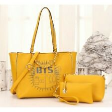 HB3477 K-POP (BTS) 3 IN 1 BAG QUALITY ARTIFICIAL LEATHER AAA K-POP STYLE YELLOW