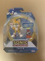 "Sonic the Hedgehog Tails Action Figure w Accessory Bendable 4"" Jakks Pacific"