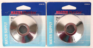 """Lot of 2 Master Plumber Shallow Pipe Covers 2pk 3/8"""" Iron, 5/8"""" Copper 220-616"""