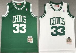 33# Larry Bird Boston Celtics 1985-86 Classics Men's Swingman Jersey Green White