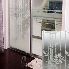 92cm x3m Bamboo Privacy Frosted Frosting Removable Glass Window Film c1055