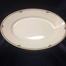 """THOMAS ROSENTHAL ROSE POINT 12 3/4"""" OVAL PLATTER SMALL FLORAL BOUQUETS BAVARIA"""