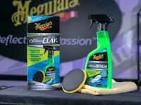 MEGUIAR'S Hybrid Ceramic Quik Clay Kit Auto Detailing Car Paint Restoration