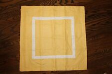 "NWT Pottery Barn Textured Linen Frame Pillow Cover 20"" Yellow Gourd Ivory"