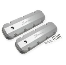 Holley 890004 Aluminum Valve Cover Pair For 65-00 Chevy 396-454 BB W/Smooth Hole