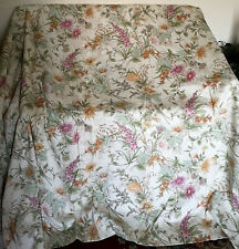 """PAIR DELIGHTFUL VINTAGE HARDY 'RHAPSODY'  CURTAINS-LINED-90""""w57""""-COUNTRY COTTAGE"""