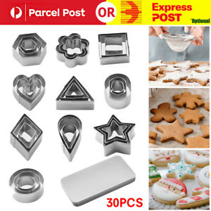 30PC Polymer Clay Cutter Stainless Steel Geometry DIY Pottery Tool Cutting Mould
