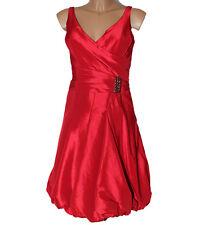 Vestito Abito Etoille italia Taffeta rosso papavero 42 donna
