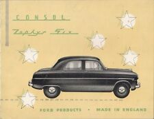 Ford Consul & Zephyr Six Saloon Mk1 1953-54 USA Market Sales Brochure