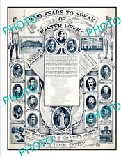 OLD POSTCARD SIZE IRELAND 1916 EASTER RISING IRISH MARTYRS POSTER