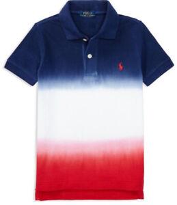 Boys Genuine Ralph Lauren 3 Colour Dip Dyed Polo Shirt - 2yrs and 4yrs CLEARANCE