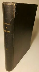 1870 L'ARCHITECTURE 5TH - 17TH CENTURIES by GAILHABAUD ENGRAVED PLATES BREAKER