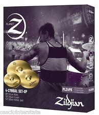 Zildjian PLZ4PK Planet Z 4-Piece Cymbal Set Pack