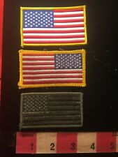 3 Piece Lot - USA Flag Themed Jacket Patches Regular / Reverse / Subdued  81D6