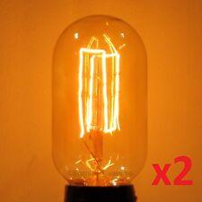 2-Pack LUMIN Nostalgia 30W Edison T14 Radio Style Antique Light Bulb 120V