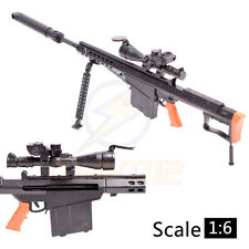"1:6 1/6 Scale 12"" Action Figures Barrett M82A1 Sniper Rifle Weapon Model Gun"
