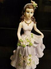 Quinceanera Cake Topper Figure Violet Dress Girl