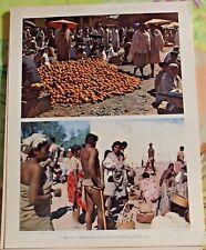 1955 Madagascar Marché à Amboasary centre & à Betroky sud ouest art print carte