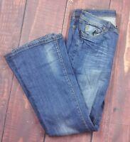VIGOSS Jeans size 7 Flare style P8032J Women's jeans denim distressed