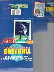1989 Score EMPTY Display Box George Brett On Top Baseball