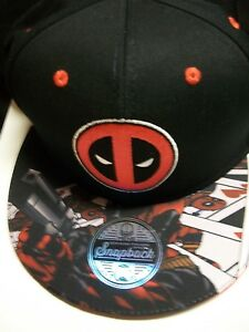 Deadpool Marvel snapback Hat new with tag