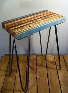 Unique UpCycled Vintage Style Rustic Industrial Occasional/Side/End Table/Stool