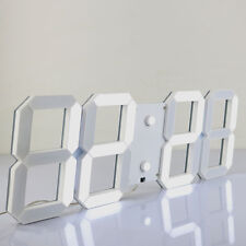 Remote Digit 3D LED Big Screen Wall Clock Alarm Countdown Timer 12/24 Hour Decor
