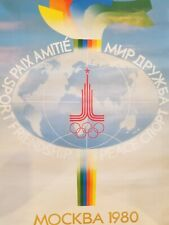 """SUMMER OLYMPIC GAMES MOSCOW 1980 XXII POSTER 26"""" x 40"""""""